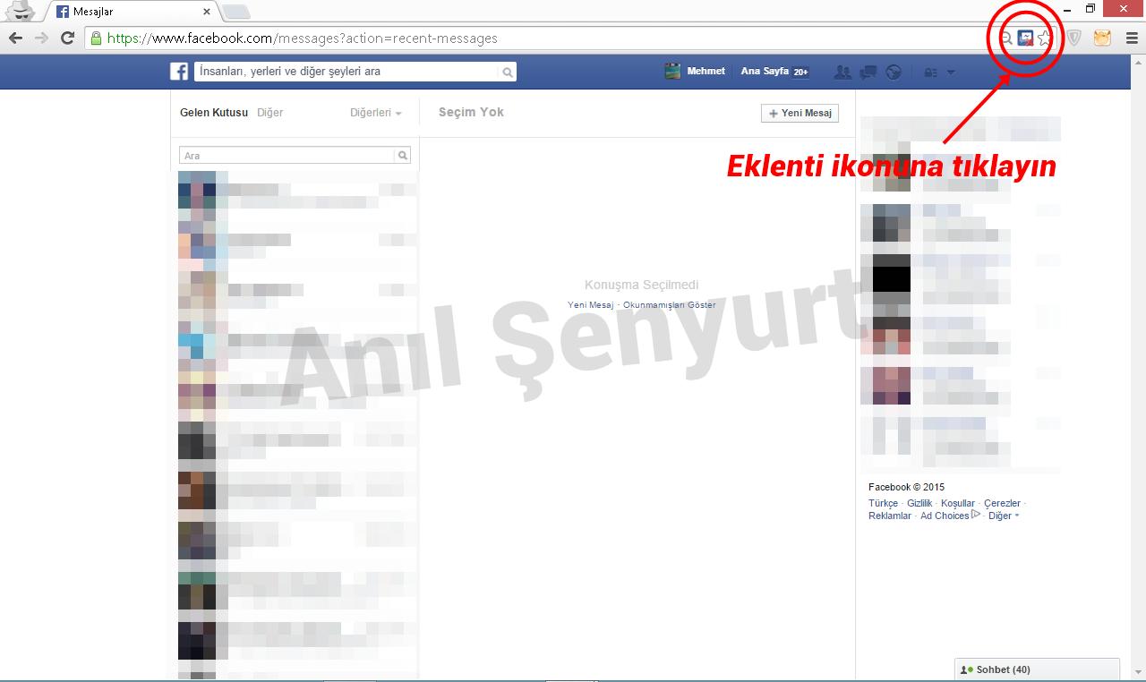facebook tüm mesajları silme anlatım 1